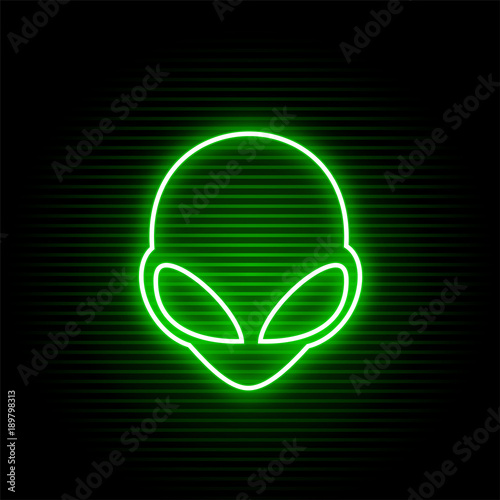 Photo neon alien face