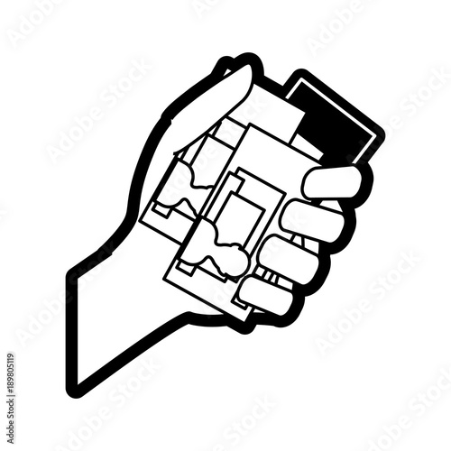 Hand With Id Cards Icon