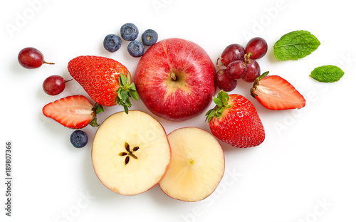 composition of various fresh fruits and berries