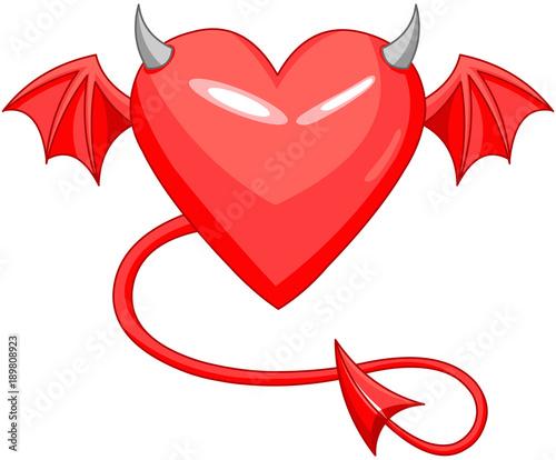 In de dag Sprookjeswereld Devil Love Horned Heart