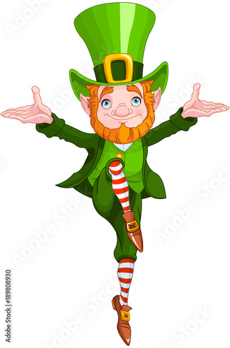 Printed kitchen splashbacks Fairytale World Lucky Dancing Leprechaun