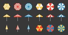 Beach Umbrella Set, Side And A...