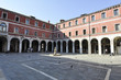 San Giacomo square and oldest bell tower in Venice Italy