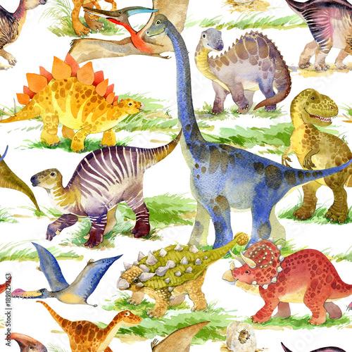 Materiał do szycia Jednolity wzór ładny dinozaurów
