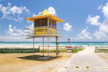 Yellow Lifeguard Tower At Kirr...