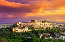 Acropolis With Parthenon. View...
