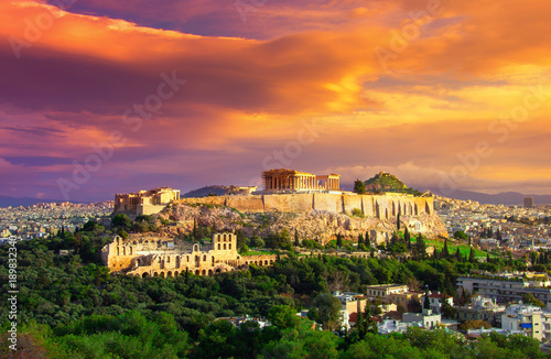 Acropolis with Parthenon Wallpaper Mural