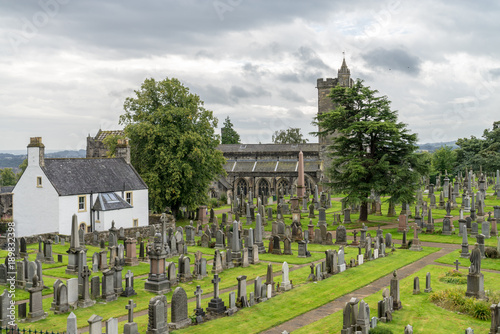 Photo  The cemetery behind the Church of the Holy Rude, in Stirling, Scotland, United K