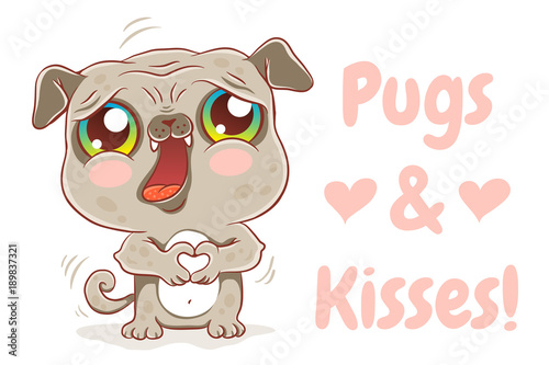 Photo  Pugs and kisses.