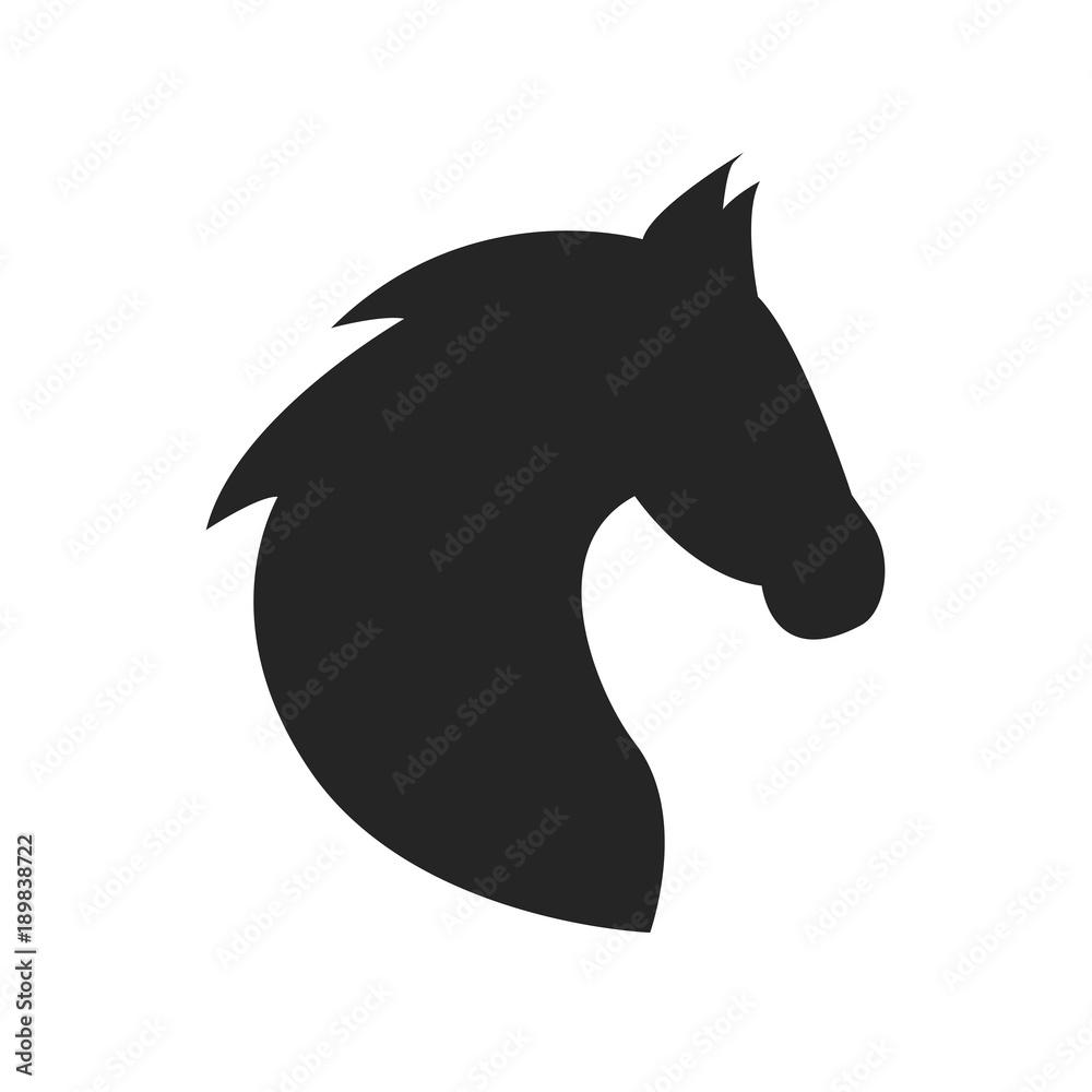Fototapety, obrazy: Horse head icon