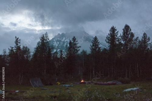 Fototapeta The Urals landscape. The Ural Mountains. Russia landscape.  obraz na płótnie