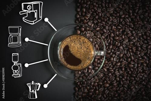 Fotografie, Obraz  espresso and coffee maker icon