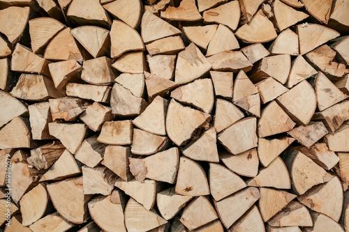 In de dag Brandhout textuur piled wood texture