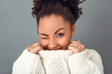 Young African Woman Isolated O...