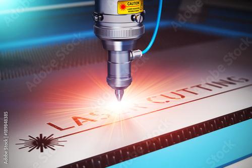Fototapeta Laser cutting technology obraz