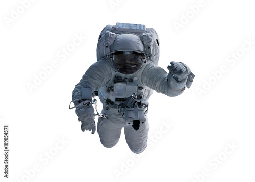 Astronaut isolated on white background 3D rendering elements of this image furnished by NASA
