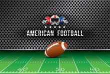 Vector Of American Football  B...