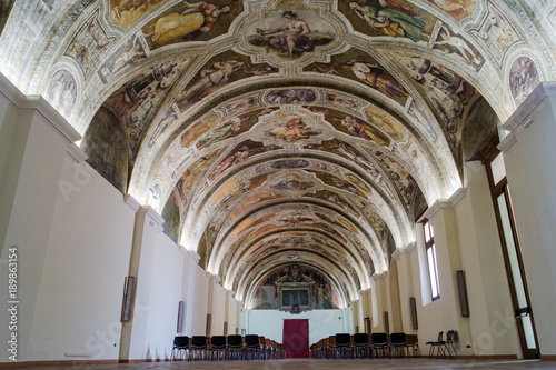Sala Sisto V, in the monumental complex of San Lorenzo Maggiore of Napoli, Italy Poster