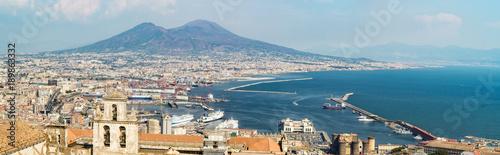 Garden Poster Napels Naples skyline from Castel Sant'Elmo, Italy