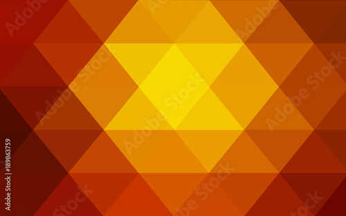 Light Orange vector abstract perspective background.