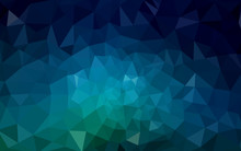 Dark Blue, Green Vector Abstra...