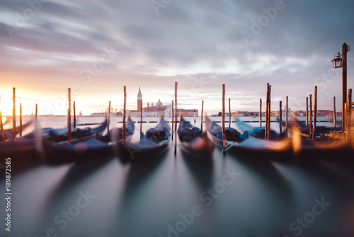 view on gondolas in Venice © Berlin85
