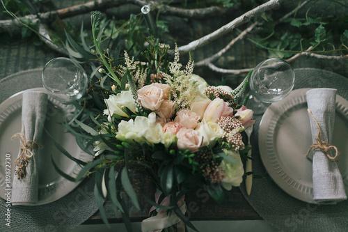 Fotografía  Rustic wedding decoration