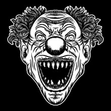 Scary Clown Head Concept Of Ci...
