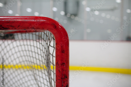 Hockey Goal Closeup Canvas Print