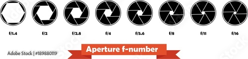 Photo Vector graphic illustration of a camera aperture with 6 blades