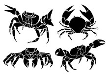 Graphical Set Of Crabs Isolate...