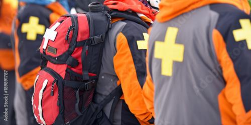 Obraz na plátně First aid ski patrol