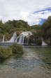 Krka natural parkland in Croatia with its waterfalls, nobody around