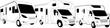 canvas print picture - Wohnmobile Typen Modelle Camper Caravan Motorcaravan weiss
