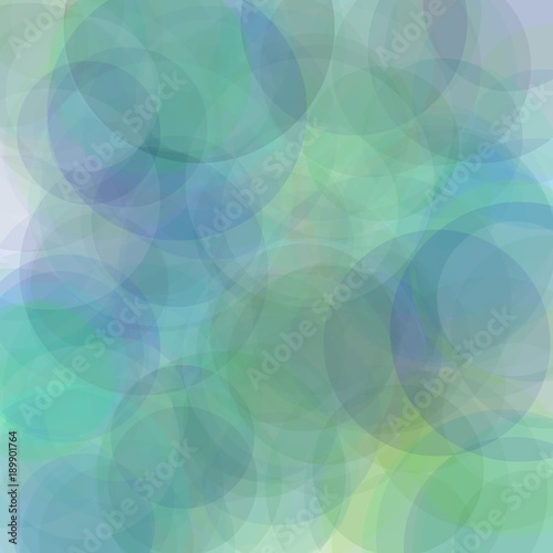 Abstract Blue Green Grey Circles Illustration Background
