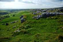 The Limestone Pavement At The Top Of Malham Cove In The Yorkshire Dales National Park. Scenes From Harry Potter Were Filmed Here.