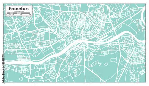Frankfurt Germany City Map in Retro Style. – kaufen Sie diese ...