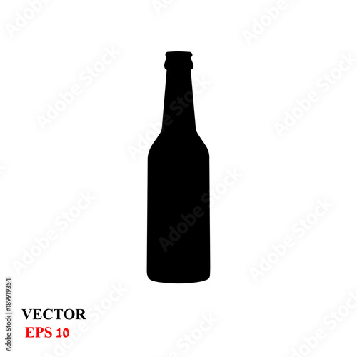 Fotografia  beer glass bottle. vector illustration