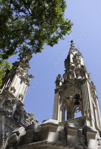 Canvas Prints Antwerp Beautiful places in the Quinta da Regaleira. Summer travel in Portugal.