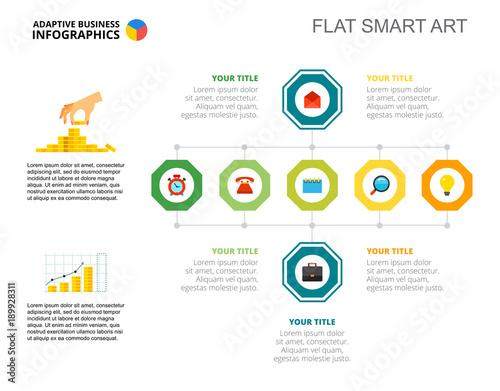 Seven Elements Flowchart Slide Template - Buy this stock