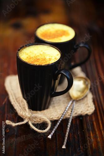 Turmeric latte or golden milk