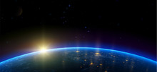 Night View Of Earth From The S...