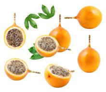 A Set Of Granadilla Fruit Isol...