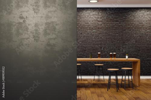 Obraz Contemporary black bar interior - fototapety do salonu