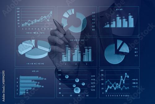 Fototapeta  ビジネスイメージ グラフ