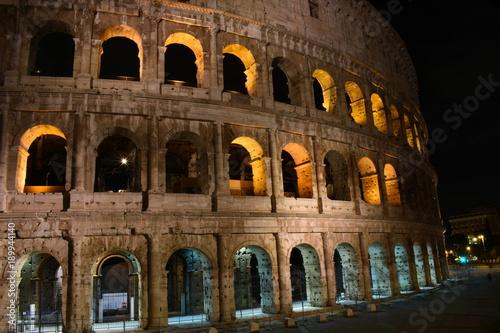 night view on Colosseum ancient  roman amphitheater © Maciej