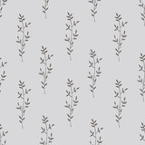 Seamless pattern with hand drawn branches. - 189944947
