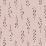 Seamless pattern with hand drawn branches. - 189944973