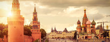 Moscow Kremlin And St Basil's Cathedral On Red Square, Moscow, Russia