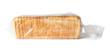 Leinwandbild Motiv Package with slices of bread for toasting on white background